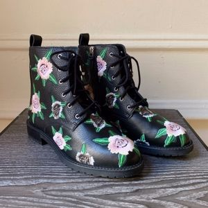 Rebecca Minkoff Gerry Embroidery Black Boots